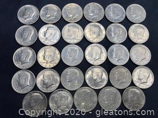 1971 Kennedy Half Dollars