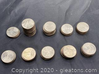 Collection of 2001/2002 State Quarters