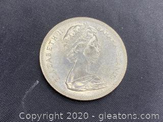 1966 Bahamas Islands Elizabeth II Dollar Coin