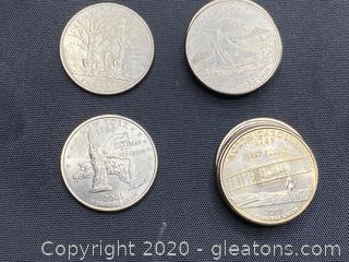 Collection of 2001 State Quarters