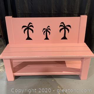 Seabrook Classics By Coastal Woodcraft Palmtree Bench
