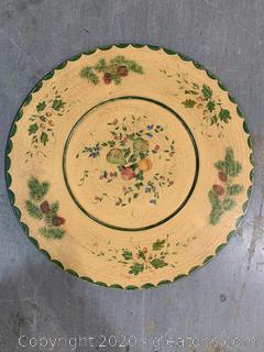 XL Handpainted Decorative Plate