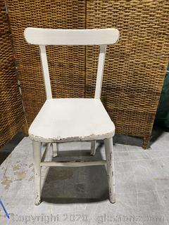 White Wooden Accent Chair