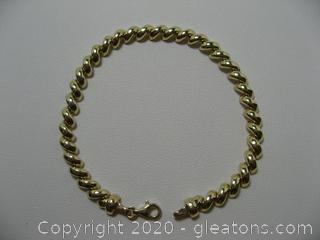 14kt Yellow San Marco Bracelet