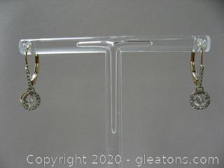 14kt Yellow Diamond Drop Earrings
