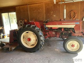 Nice International 444 Tractor with Woods RM306 Finishing Mower - Runs Excellent