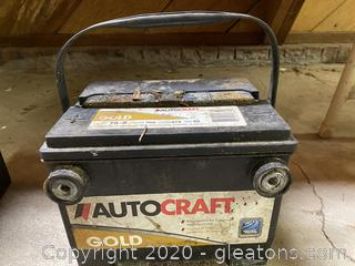 Auto Craft Gold Car Battery