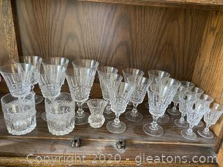 Cut Glass Stemware and Glasses