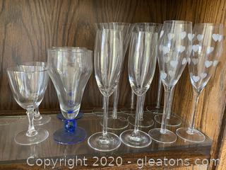 Collection of Assorted Stemware