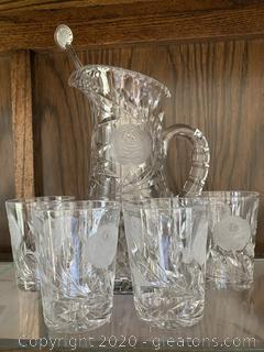 Pitcher and Glasses Set