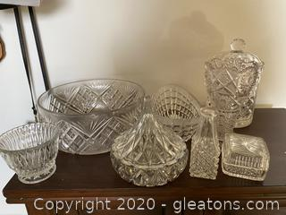 Collection of Cut Glass Dishes