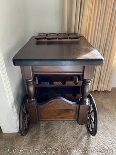 Wooden Bar Cart