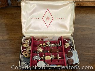 Collection of Pins, Cufflinks, Pendants