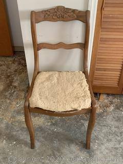 Antique Hand Carved Dining Chair