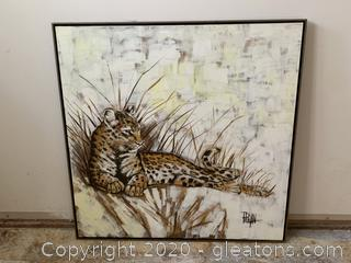 Large Big Cat Canvas