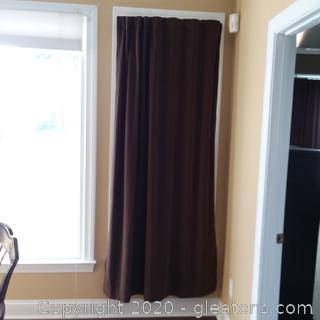2 Heavy Brown Curtain Panels