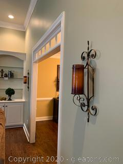 Pair of Vertical Iron Wall Sconces
