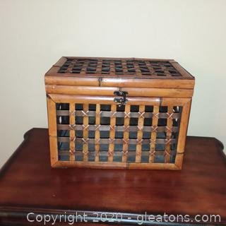 Open Weave Cane Chest