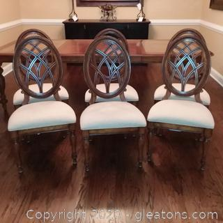 6 Stanley Furniture Co Sunset Key Oval Back Dining Room Chairs