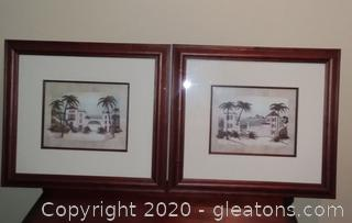 "Pair of Framed Prints ""Tropical Paradise"""
