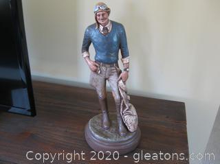"Michael Garman Bronze Sculpture ""Barn Stormer"""