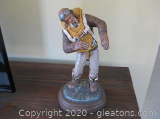 """Michael Garman Sculpture """"And There I Was""""(Bronze)"""