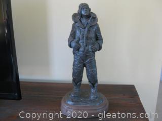"Michael Garman Bronzetone Sculpture-""Another Mission"""
