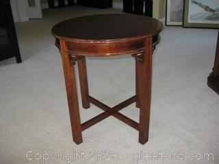Round Mahogany Side Table