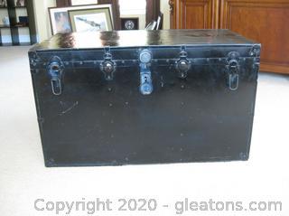 Vintage Train Case Trunk