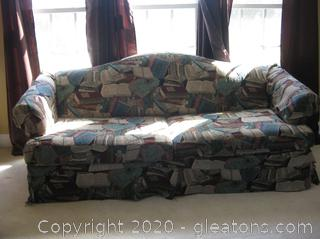 Sleeper Couch by Bassett W/Camel Back