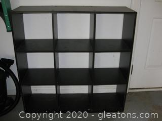 Brown Wood Laminate Book Shelf (D)