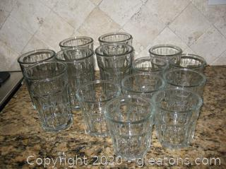 Set of Clear Water Glasses in Excellent Condition