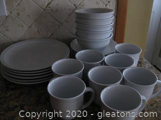 Set of White Dinnerware from Mainstay