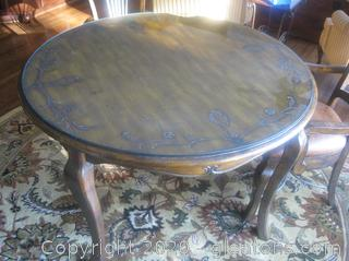 Beautiful Round, Solid Wood Breakfast Table