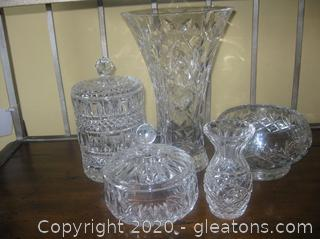 Lot of Beautiful Lead Crystal Special Occasion Pieces