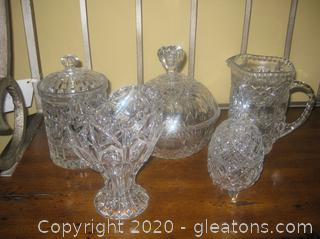Lot of Pretty Pressed Glass Pieces for Special Occasions