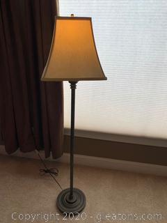 Chocolate Brown Wrought Iron Floor Lamp