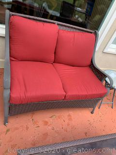 Outdoor Patio Love Seat with Cushions