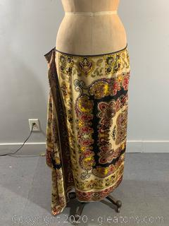 Dana Buchman 100% Silk Long Skirt - NEW WITH TAGS (size 18)