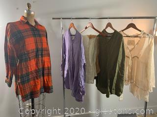 Lot of Ladies Designer Long Sleeves (M & L)