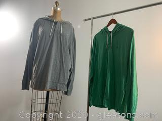 2 Men's Clothing Southern Tide Pullovers with Hoods (XXL)
