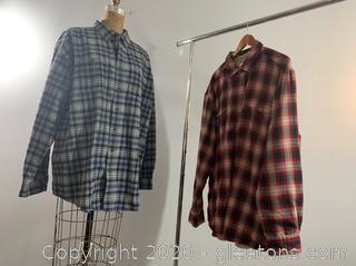 2 Men's Winter Flannel Shirts (XXL)