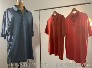 Lot of Men's Short Sleeve Collard Dress Shirts (2XL)