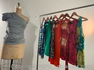 8 pc Lot of Ann Taylor Spring Sleeveless Tops (Various sizes 4-10)