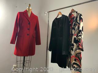 3 Ladies Business Trench Coats (M & 8)
