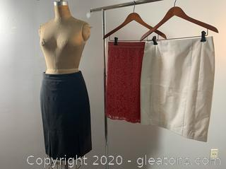 3 pc Lot of Ann Taylor Formal/Business Skirts (size 6)
