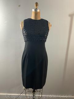 Evan-Picone Sequined Top Evening Dress (size 6)