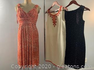 3 pc Lot of Elegant Sleeveless Short Dresses - one NWT (Size 8 & 10)