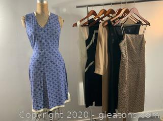 7 pc Lot of Ladies Formal/Business Dresses (size 4 & M)