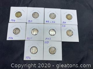 Silver Mercury Dimes